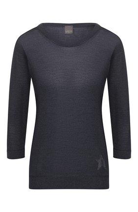 Женский пуловер из смеси шелка и шерсти LORENA ANTONIAZZI синего цвета, арт. P2053BM029/2728   Фото 1