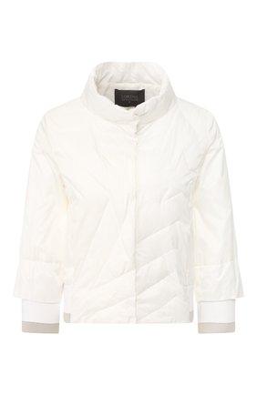 Женская стеганая куртка LORENA ANTONIAZZI белого цвета, арт. P2006PI002/2348 | Фото 1
