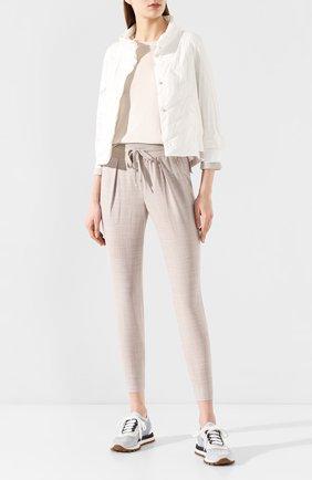 Женская стеганая куртка LORENA ANTONIAZZI белого цвета, арт. P2006PI002/2348 | Фото 2