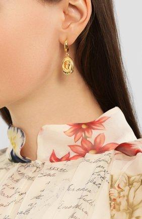 Женские моносерьга hygeia HERMINA ATHENS золотого цвета, арт. YSEG | Фото 2