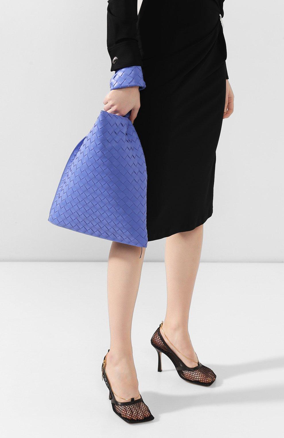 Женская сумка bv twist BOTTEGA VENETA синего цвета, арт. 607964/VCPP0 | Фото 2