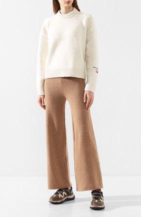 Женские кашемировые брюки NOT SHY бежевого цвета, арт. 3501032C | Фото 2