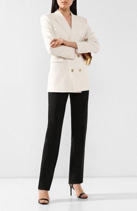 Женские шерстяные брюки VALENTINO черного цвета, арт. TB3RB3R554S   Фото 2