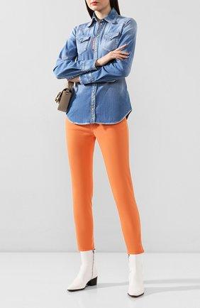 Женские джинсы DSQUARED2 оранжевого цвета, арт. S75LB0303/S44531 | Фото 2
