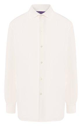 Женская шелковая рубашка RALPH LAUREN белого цвета, арт. 290790397 | Фото 1