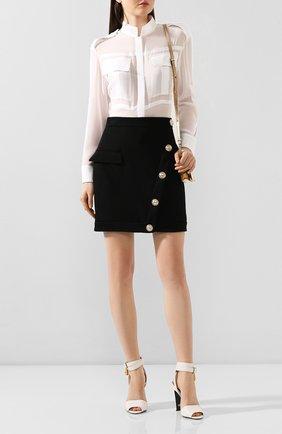 Женская шелковая рубашка TOM FORD белого цвета, арт. CA3148-FAX075   Фото 2
