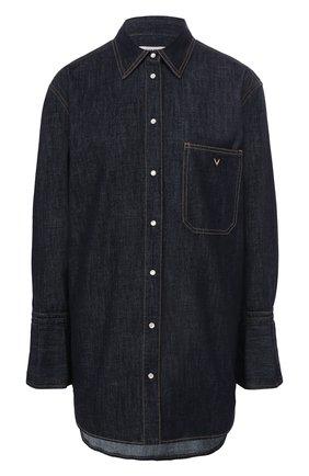 Женская джинсовая рубашка VALENTINO синего цвета, арт. TB3DB00M55F | Фото 1