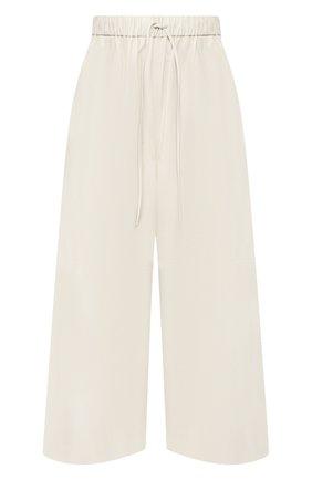 Женские кожаные брюки YVES SALOMON кремвого цвета, арт. 9EYP234XXAPXX | Фото 1