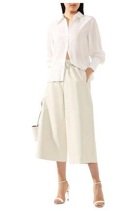 Женские кожаные брюки YVES SALOMON кремвого цвета, арт. 9EYP234XXAPXX | Фото 2