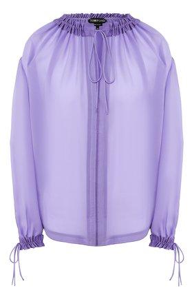 Женская шелковая блузка TOM FORD фиолетового цвета, арт. TS1890-FAX075 | Фото 1