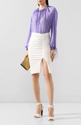 Женская шелковая блузка TOM FORD фиолетового цвета, арт. TS1890-FAX075 | Фото 2