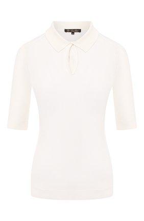 Женское кашемировое поло LORO PIANA белого цвета, арт. FAI9329 | Фото 1