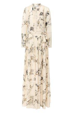 Женское шелковое платье OSCAR DE LA RENTA разноцветного цвета, арт. 20RN276LBG | Фото 1