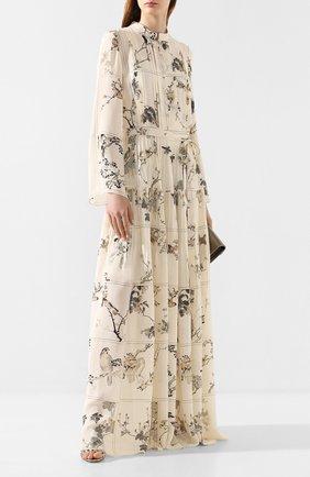 Женское шелковое платье OSCAR DE LA RENTA разноцветного цвета, арт. 20RN276LBG | Фото 2