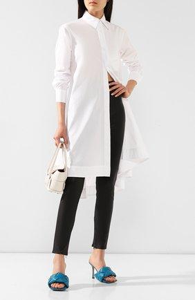 Женские кожаные леггинсы FENDI черного цвета, арт. FPP755 VQP | Фото 2
