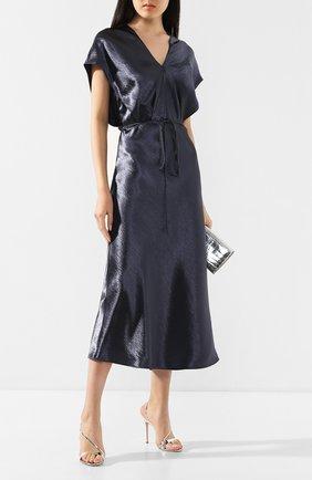 Женское платье-миди VINCE синего цвета, арт. V630251101 | Фото 2