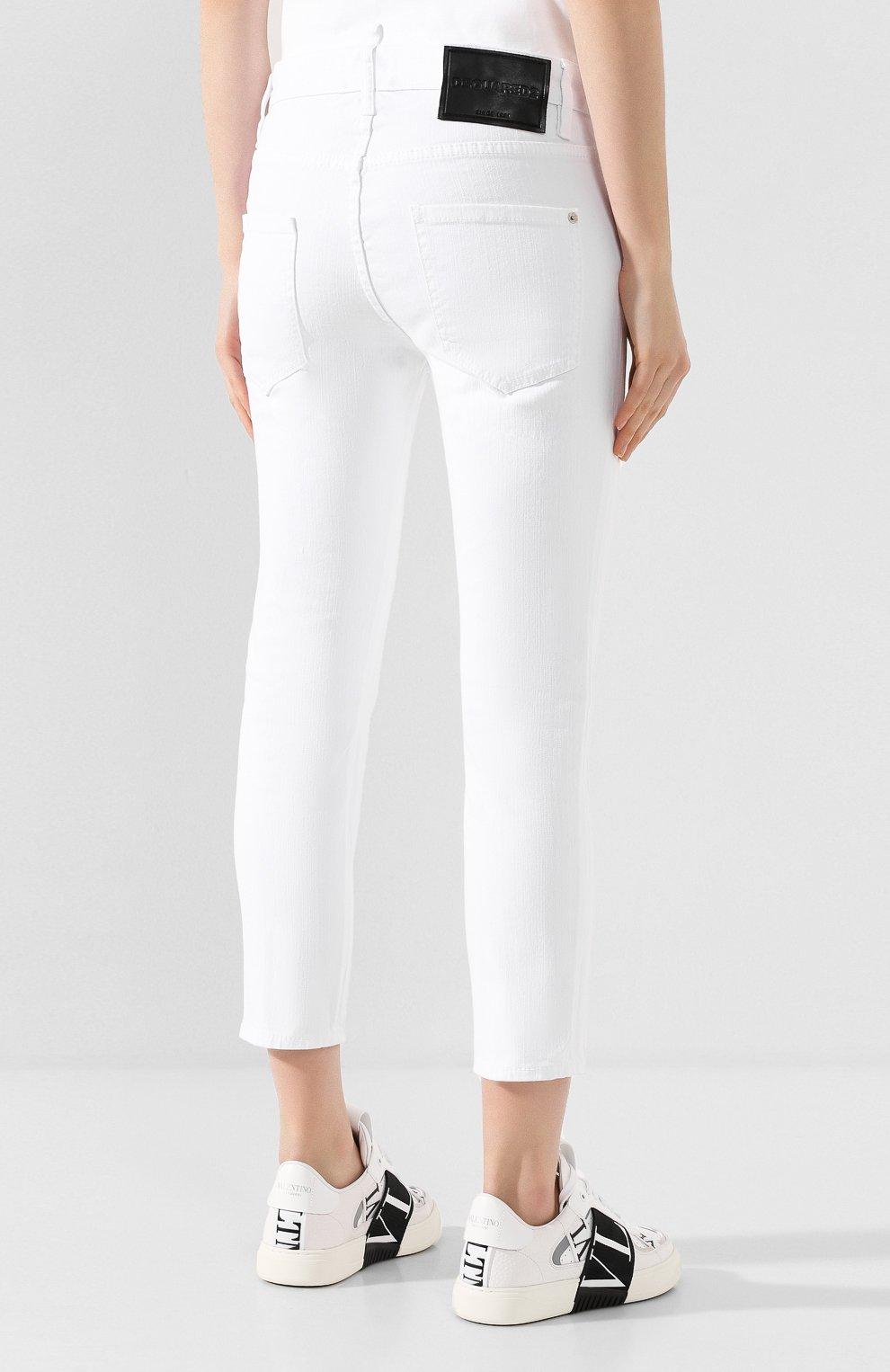 Женские джинсы DSQUARED2 белого цвета, арт. S80LA0003/S39781 | Фото 4