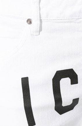 Женские джинсы DSQUARED2 белого цвета, арт. S80LA0003/S39781 | Фото 5