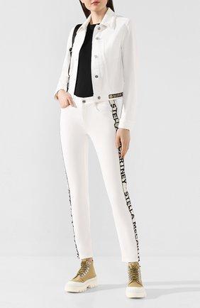 Женская джинсовая куртка STELLA MCCARTNEY белого цвета, арт. 600260/SNH60 | Фото 2