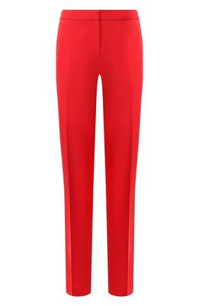 Женские шерстяные брюки BURBERRY красного цвета, арт. 8024806 | Фото 1