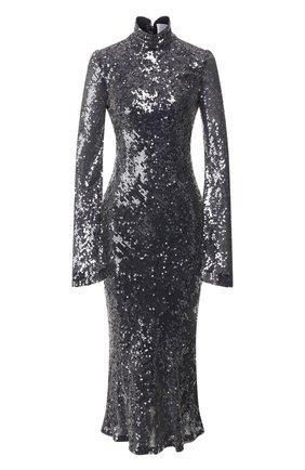 Женское платье с пайетками GALVAN LONDON серебряного цвета, арт. 1829 LEGAT0 DRESS | Фото 1