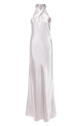 Женское платье-макси GALVAN LONDON серебряного цвета, арт. 1859 METALLIC EVE | Фото 1