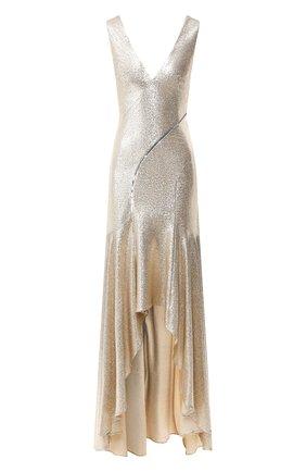Женское платье-макси GALVAN LONDON золотого цвета, арт. 1885 RELEVE DRESS | Фото 1