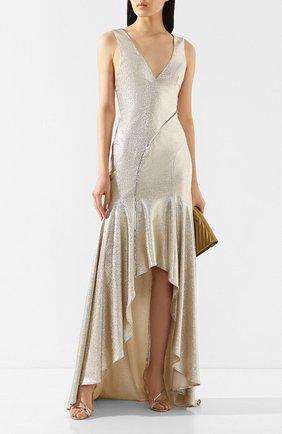 Женское платье-макси GALVAN LONDON золотого цвета, арт. 1885 RELEVE DRESS | Фото 2