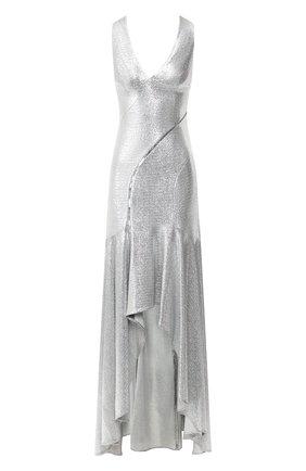 Женское платье-макси GALVAN LONDON серебряного цвета, арт. 1885 RELEVE DRESS | Фото 1