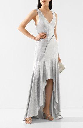 Женское платье-макси GALVAN LONDON серебряного цвета, арт. 1885 RELEVE DRESS | Фото 2