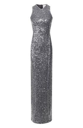 Женское платье с пайетками GALVAN LONDON серебряного цвета, арт. 601 PAILLETTE C0LUMN | Фото 1