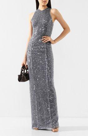Женское платье с пайетками GALVAN LONDON серебряного цвета, арт. 601 PAILLETTE C0LUMN | Фото 2