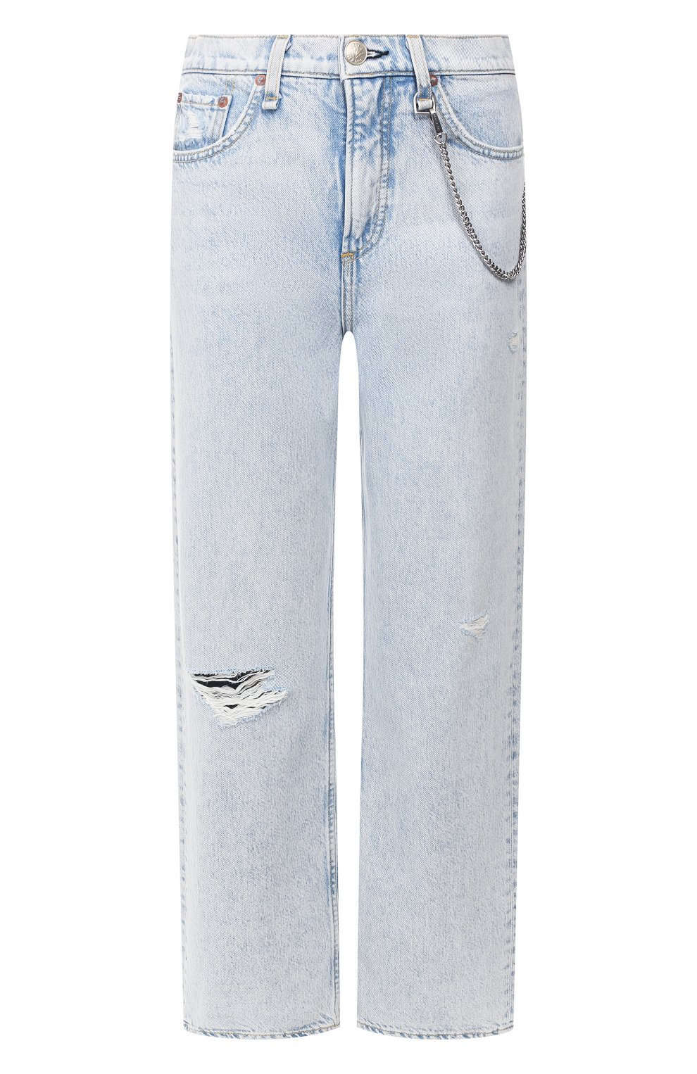 Женские джинсы RAG&BONE голубого цвета, арт. WDD19H2665B1NG   Фото 1