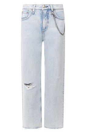 Женские джинсы RAG&BONE голубого цвета, арт. WDD19H2665B1NG | Фото 1