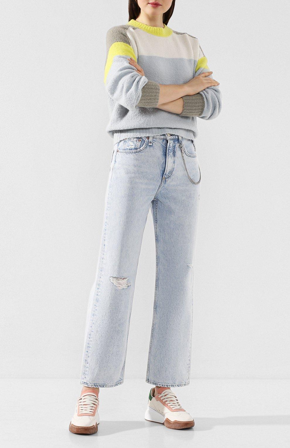 Женские джинсы RAG&BONE голубого цвета, арт. WDD19H2665B1NG   Фото 2