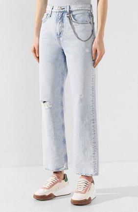 Женские джинсы RAG&BONE голубого цвета, арт. WDD19H2665B1NG   Фото 3