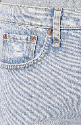 Женские джинсы RAG&BONE голубого цвета, арт. WDD19H2665B1NG   Фото 5