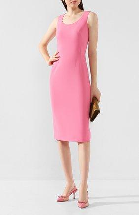 Женское платье DOLCE & GABBANA розового цвета, арт. F6F2KT/FURDV | Фото 2