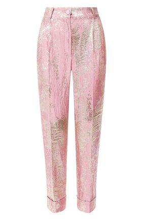 Женские брюки DOLCE & GABBANA розового цвета, арт. FTBQ0T/HJMJR | Фото 1