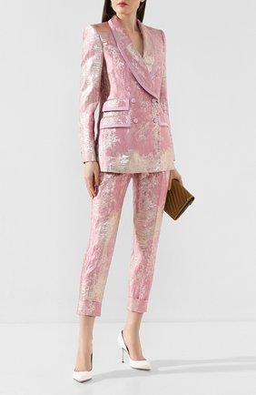Женские брюки DOLCE & GABBANA розового цвета, арт. FTBQ0T/HJMJR | Фото 2