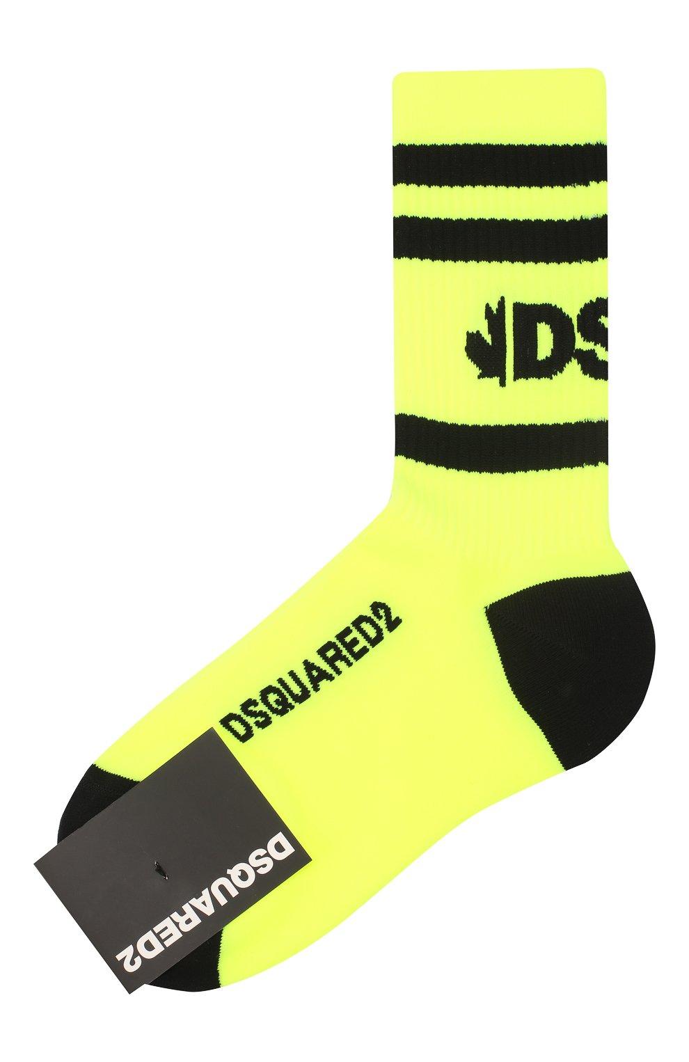Женские носки DSQUARED2 желтого цвета, арт. DFV171710 | Фото 1