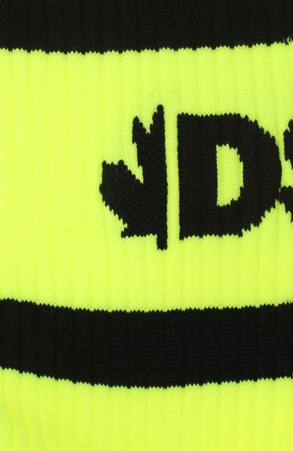 Женские носки DSQUARED2 желтого цвета, арт. DFV171710 | Фото 2