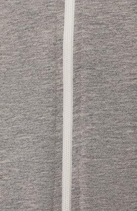 Детский спальный комбинезон LOVE TO DREAM серого цвета, арт. L10 01 001 GR S | Фото 3 (Материал: Текстиль, Хлопок)