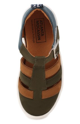 Замшевые сандалии | Фото №4
