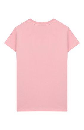 Детская хлопковая футболка EMILIO PUCCI розового цвета, арт. 9M8011/MX170/1-4 | Фото 2