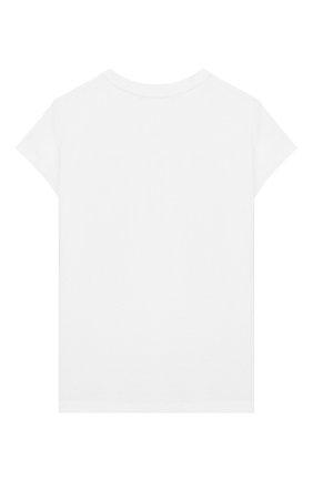 Детская хлопковая футболка EMILIO PUCCI белого цвета, арт. 9M8011/MX170/5-8   Фото 2