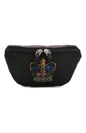 Детская поясная сумка DOLCE & GABBANA черного цвета, арт. EM0072/AN034 | Фото 1