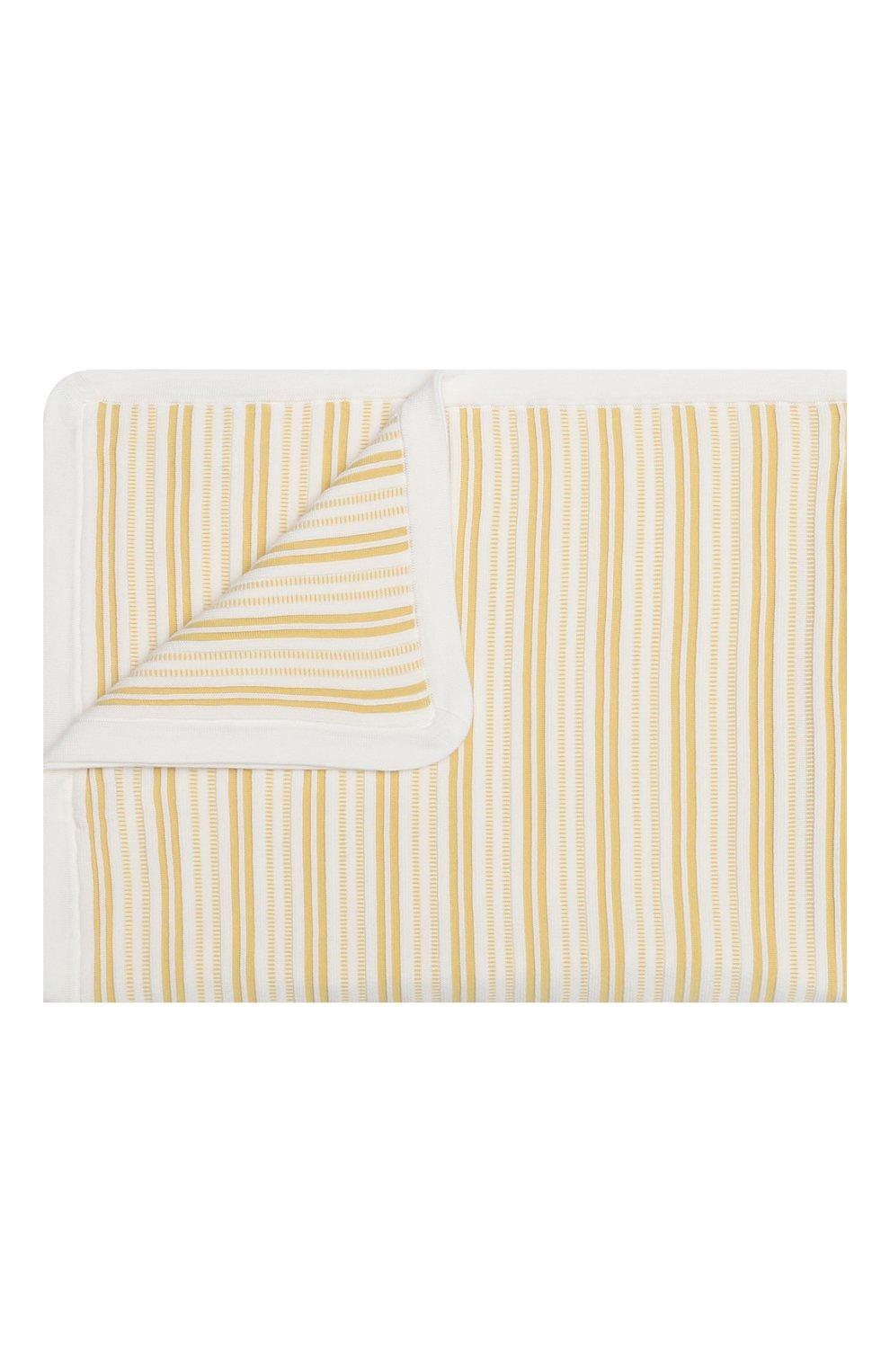 Детского хлопковое одеяло LORO PIANA желтого цвета, арт. FAI9474 | Фото 1