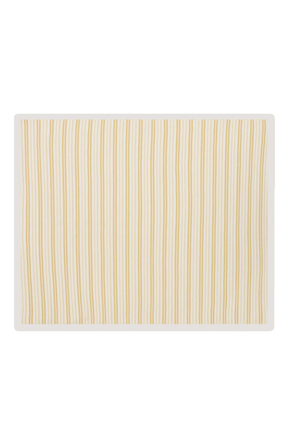 Детского хлопковое одеяло LORO PIANA желтого цвета, арт. FAI9474 | Фото 3
