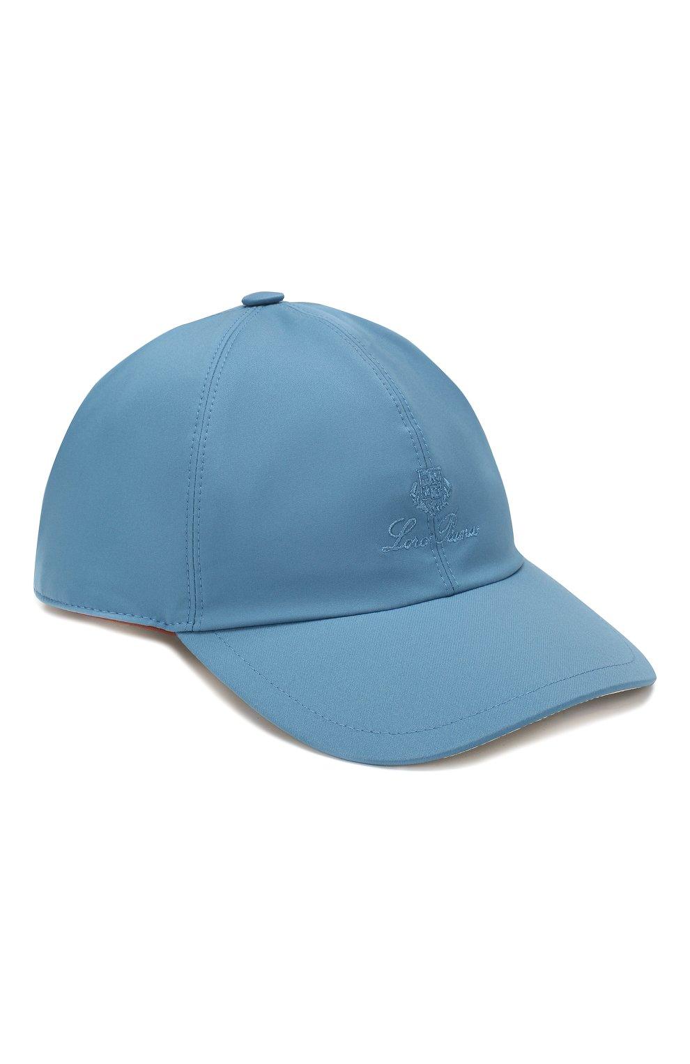 Детская бейсболка LORO PIANA голубого цвета, арт. FAE8580   Фото 1